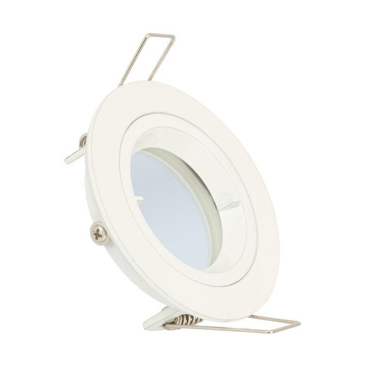 Collerette ronde blanche pour Ampoule LED GU10 / GU5.3
