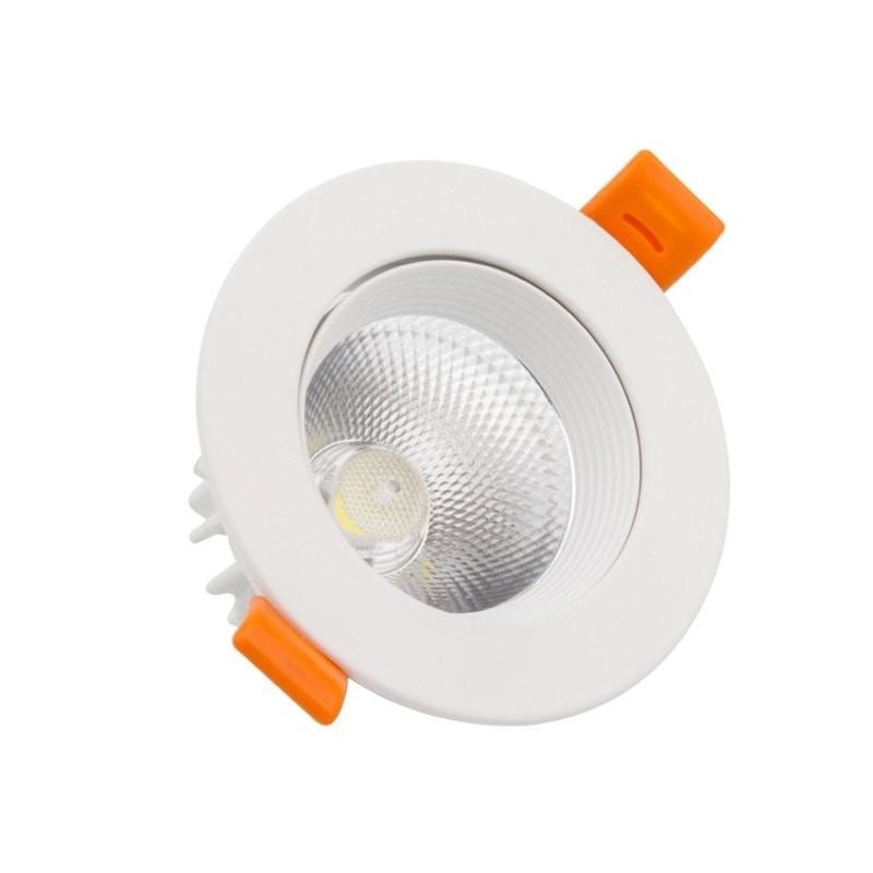 Spot LED COB Orientable Rond 7W Blanc