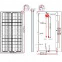 Panneau solaire polycristallin dimensions