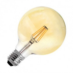 Ampoule LED E27 Variable Filament Suprême G125 6W OR