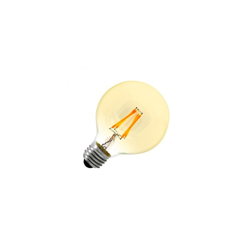 Ampoule LED E27 Variable Filament Globe Gold G80 6W